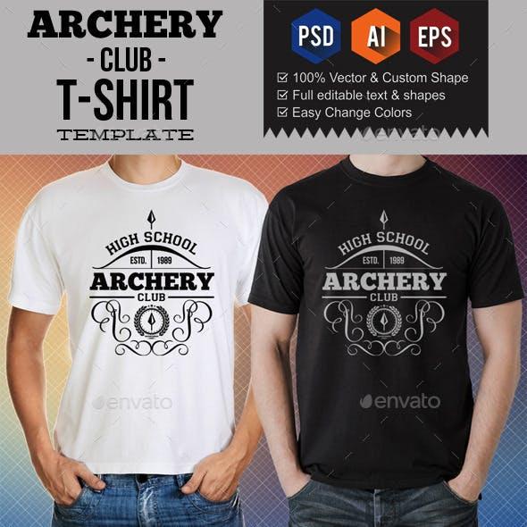 Archery Club T-Shirt Templates