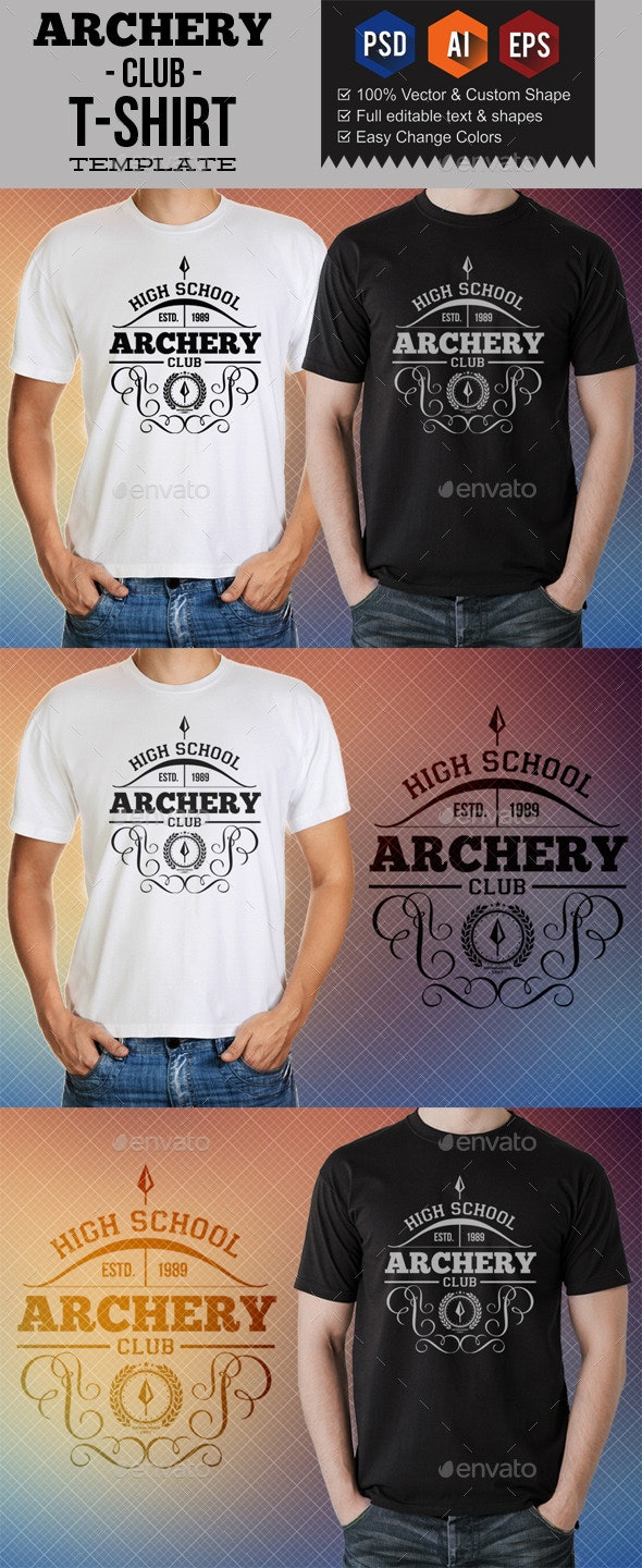 Archery Club T-Shirt Templates