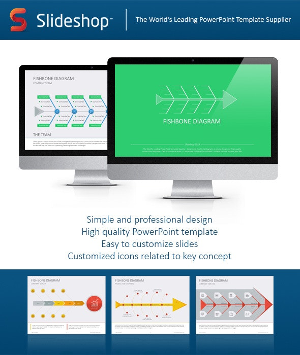 Fishbone Flat - Creative PowerPoint Templates