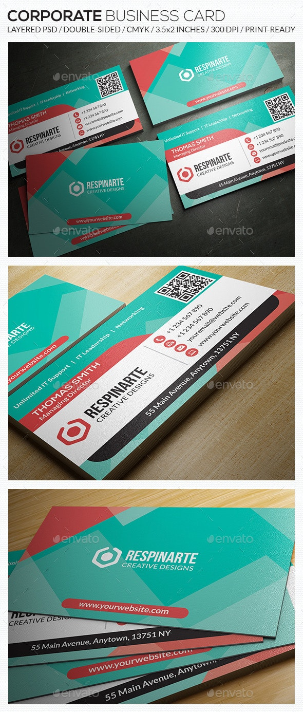 Corporate Business Card - RA57 - Corporate Business Cards