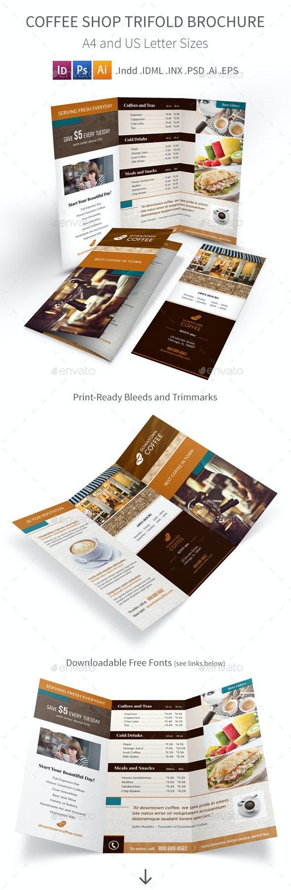 Coffee Shop Trifold Brochure - Informational Brochures