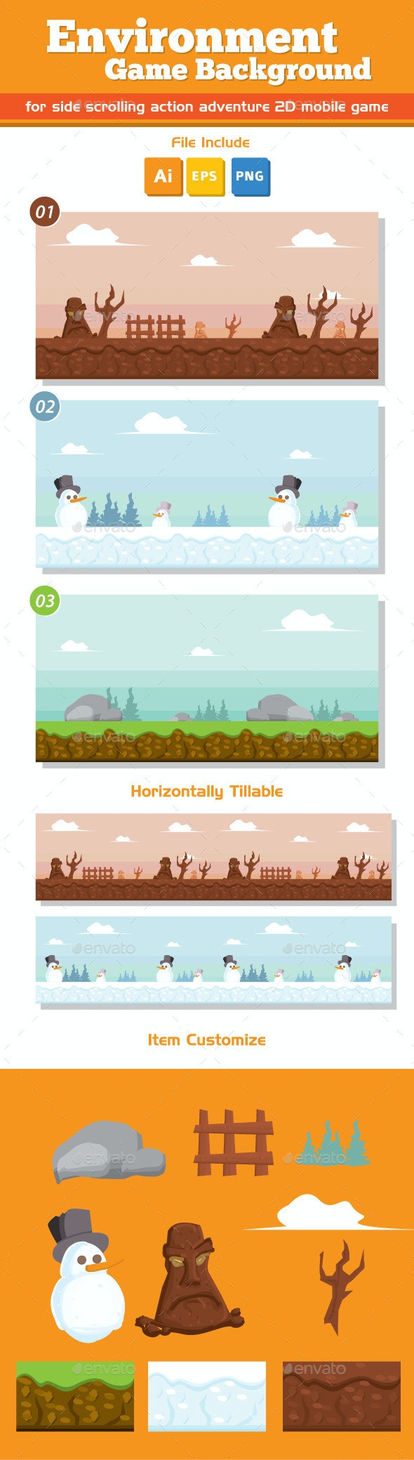 Environment Game Background - Backgrounds Game Assets