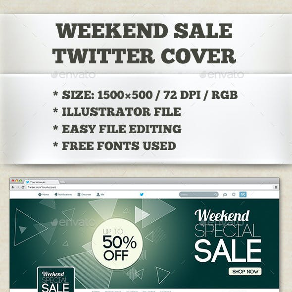 Weekend Sale Twitter Cover