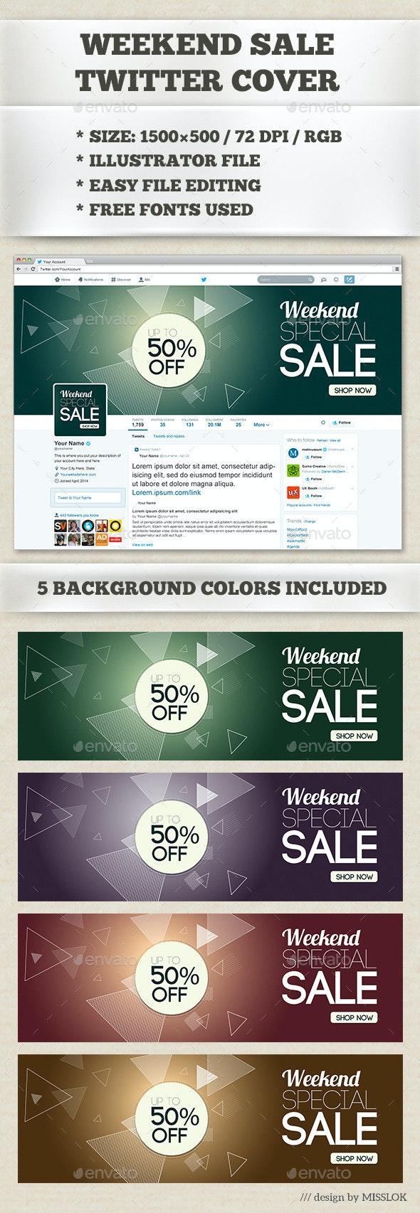 Weekend Sale Twitter Cover - Twitter Social Media