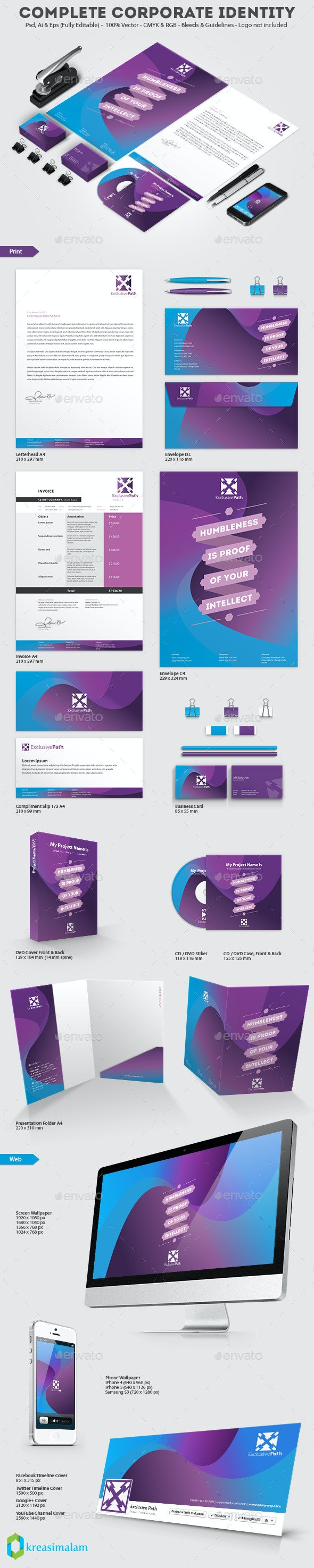 Exclusive Path Corporate Identity Print Template - Stationery Print Templates