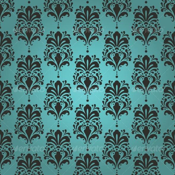 Seamless damask pattern - Patterns Decorative