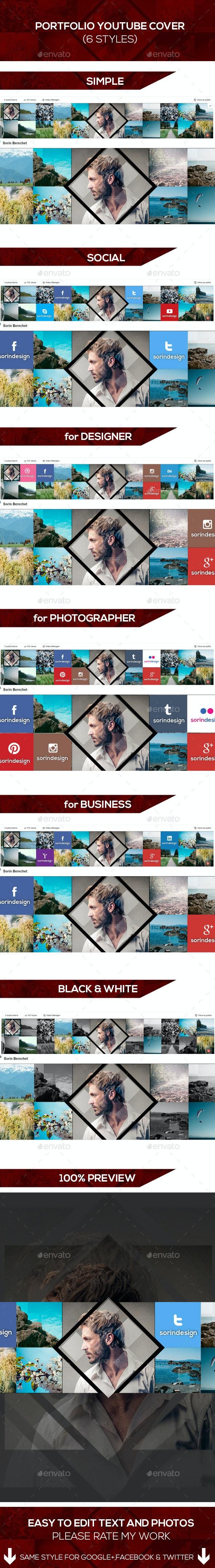 Portfolio Youtube Covers Pack - YouTube Social Media