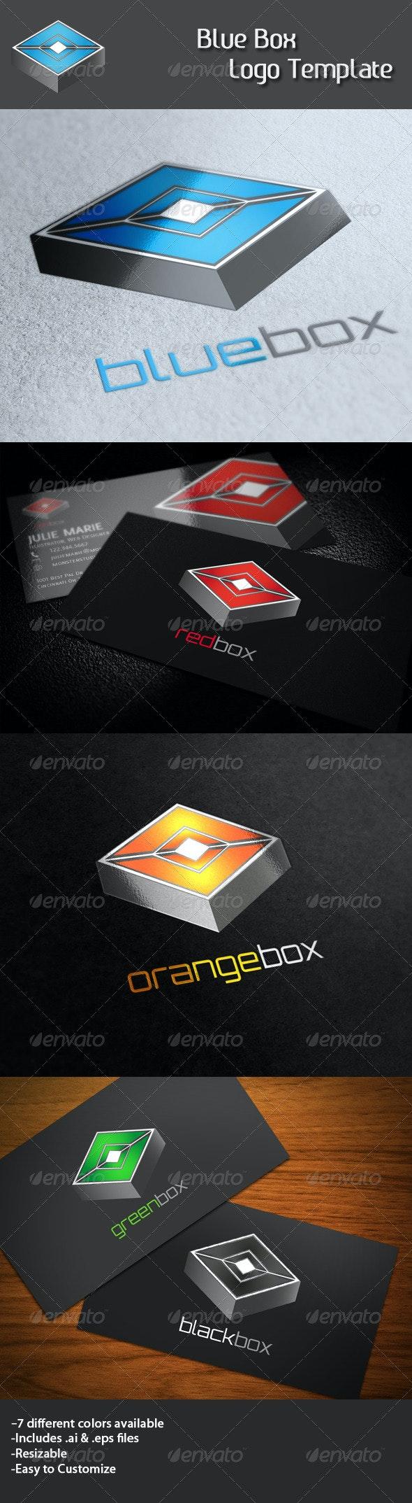 Blue Box Logo - Vector Abstract