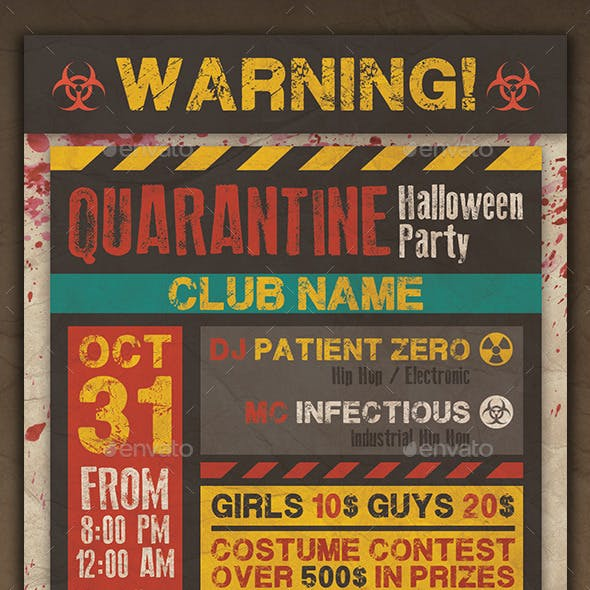 Quarantine Party Flyer