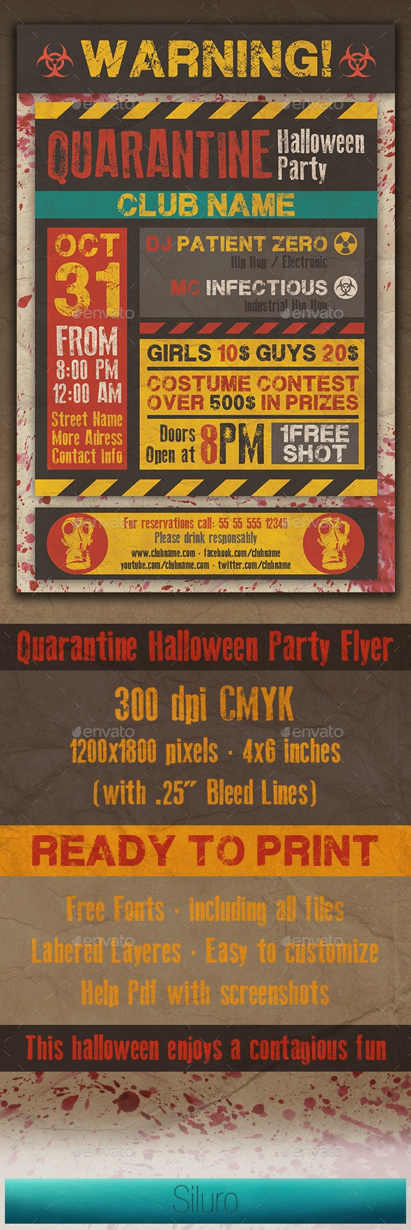 Quarantine Party Flyer - Clubs & Parties Events