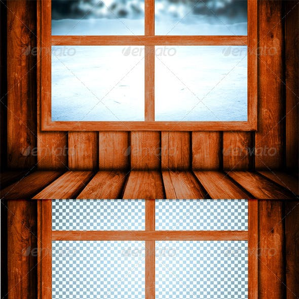 Window in the Hut Background