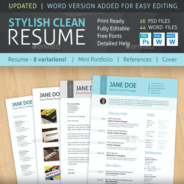 Stylish Clean Resume