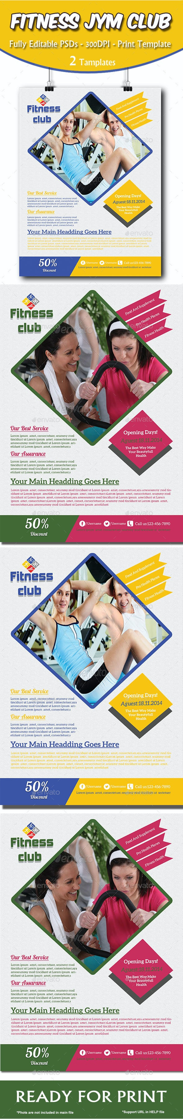 Fitness Gym Health Flyer - Sports Events