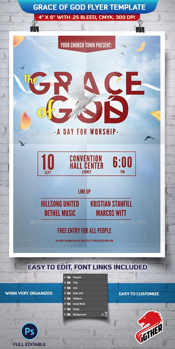 Grace of God - Events Flyers