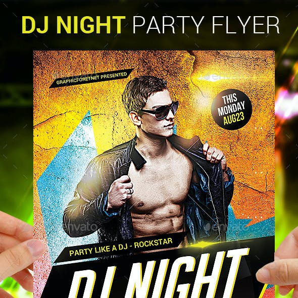 Electro Dj Party Flyer Psd Template