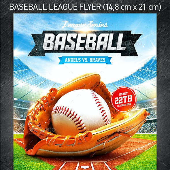 Baseball League Series Flyer