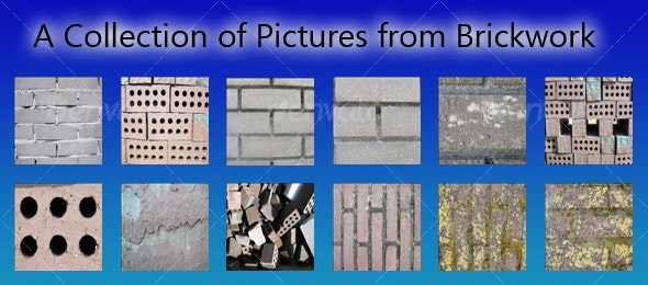 Set of Brick-images - Stone Textures