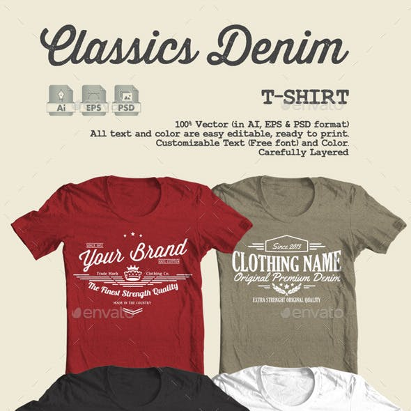 c4c7113429b Customisable T-shirt Designs from GraphicRiver