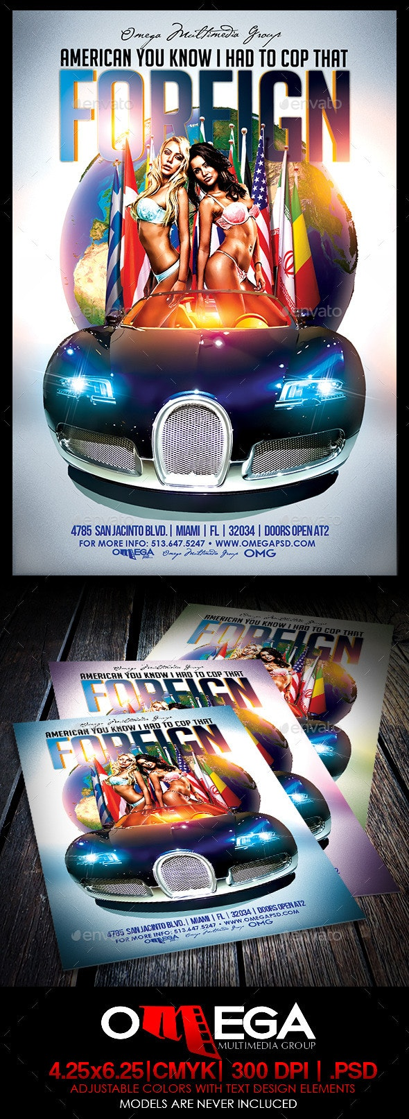 Cop That Foreign - Events Flyers