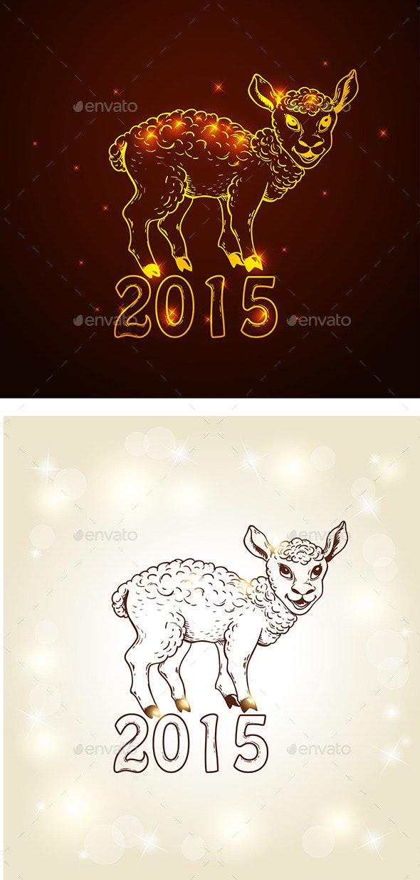 New Year Card with Yeanling - New Year Seasons/Holidays