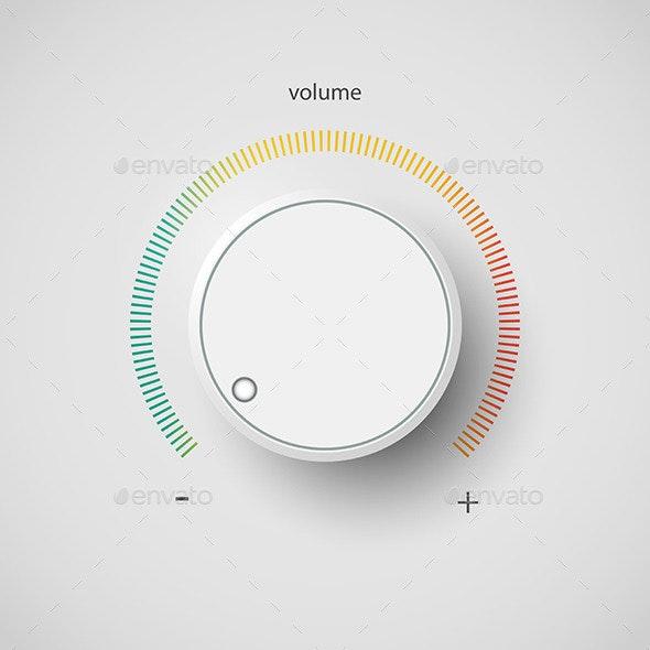 Realistic Metal Control Panel Tumbler. Music Audio. - Media Technology