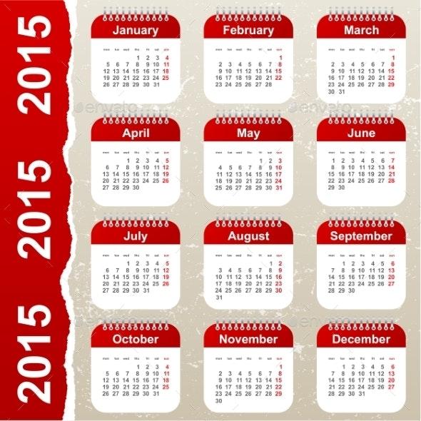 Calendar 2015 - Miscellaneous Conceptual