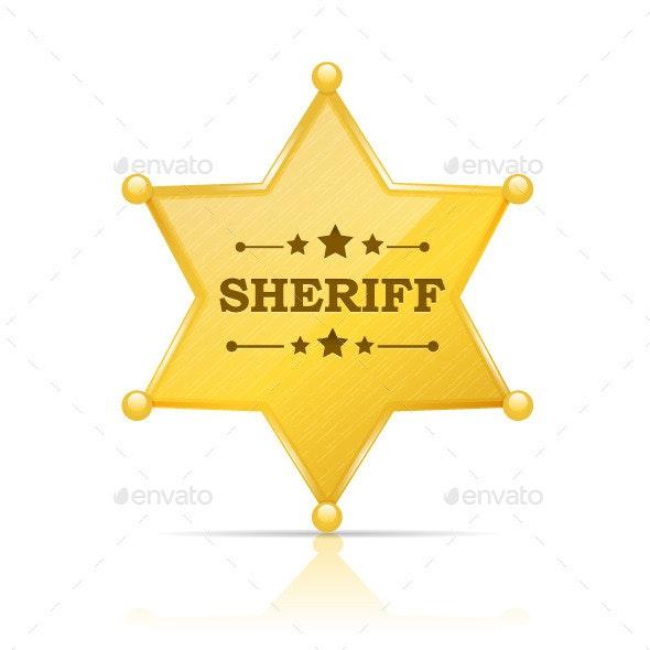 Sheriff Badge - Objects Vectors