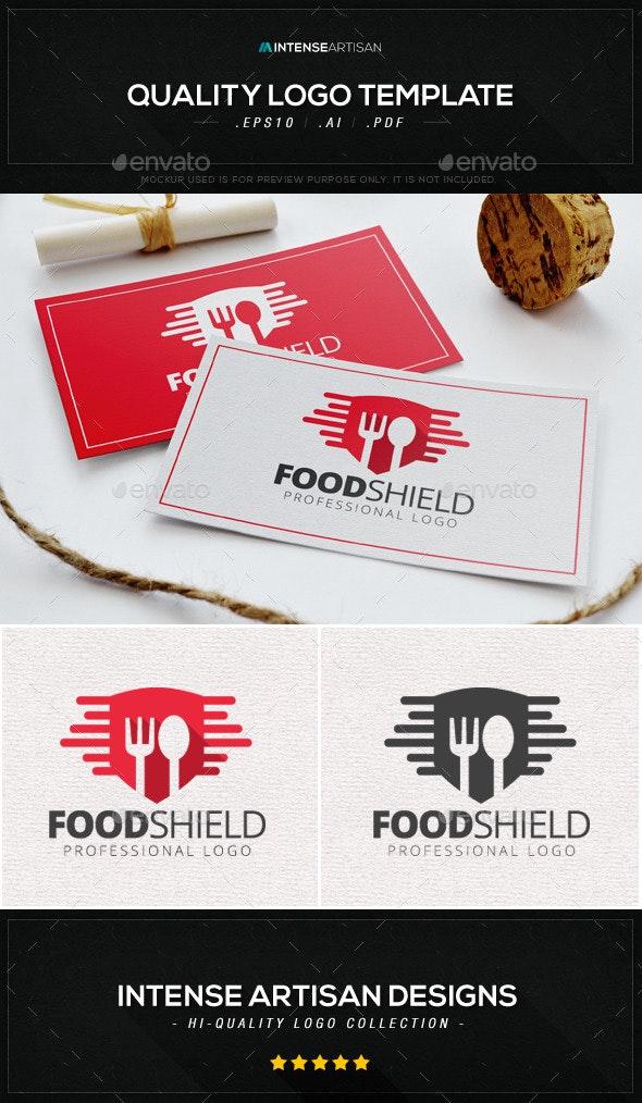 Food Shield Logo Template - Food Logo Templates
