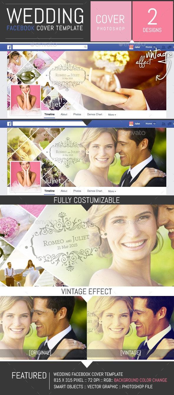 Wedding Photo Album Facebook Cover Template - Facebook Timeline Covers Social Media