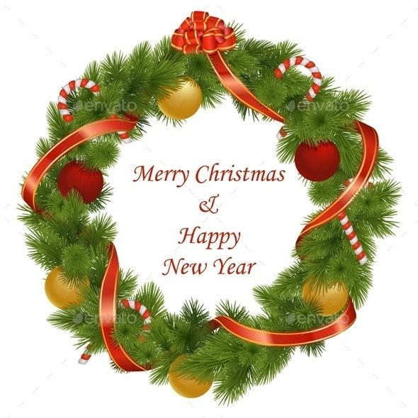 Vector Christmas Wreath - Christmas Seasons/Holidays