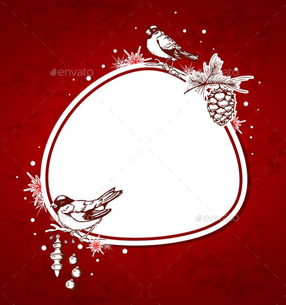 Background with Birds and Decorations - Christmas Seasons/Holidays