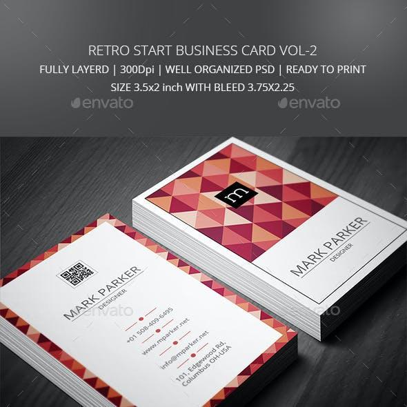 Retro Star Business Card Vol2