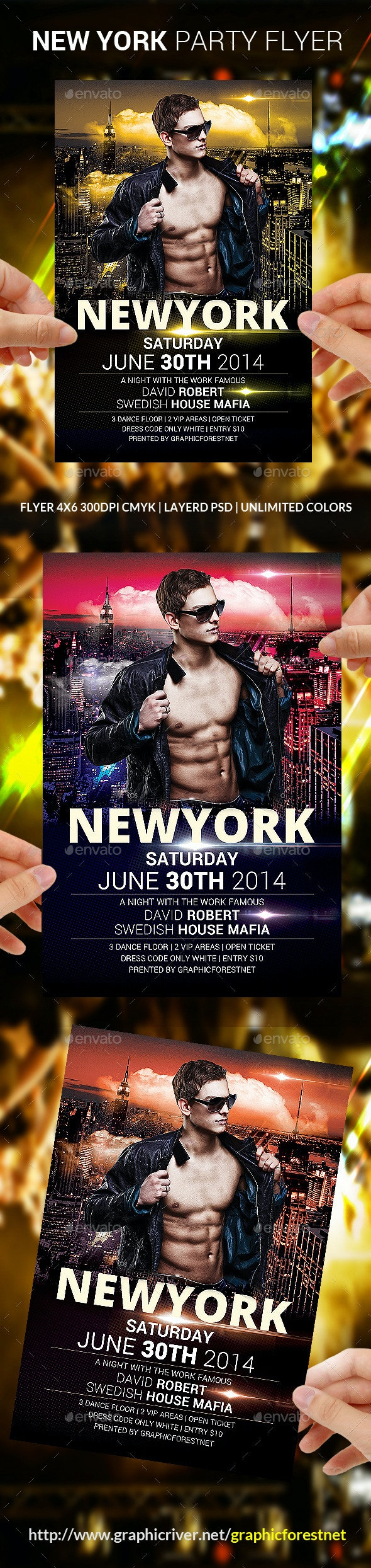 New York Party Flyer Template - Clubs & Parties Events