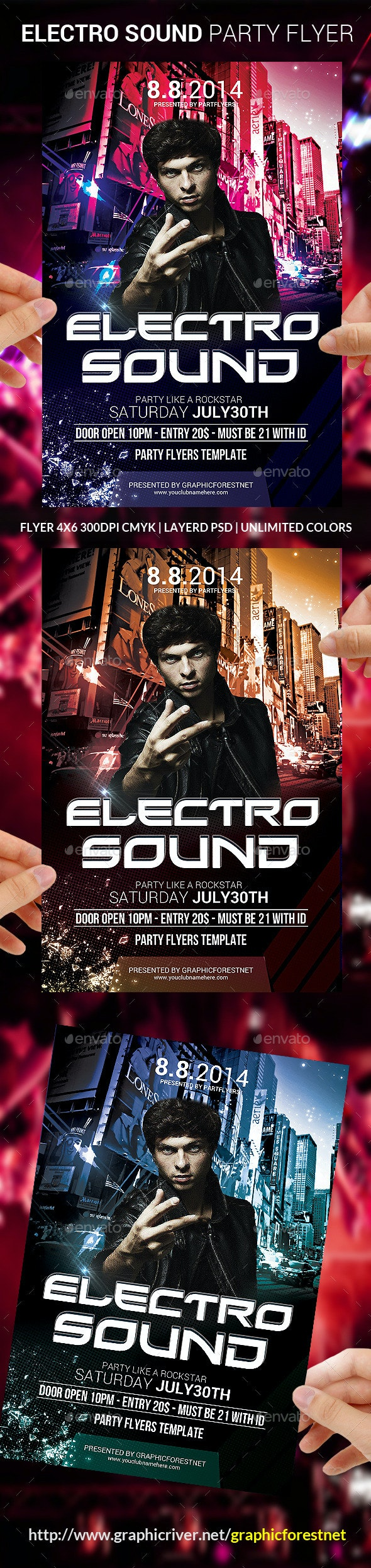 Electro Sound Flyer Template - Clubs & Parties Events