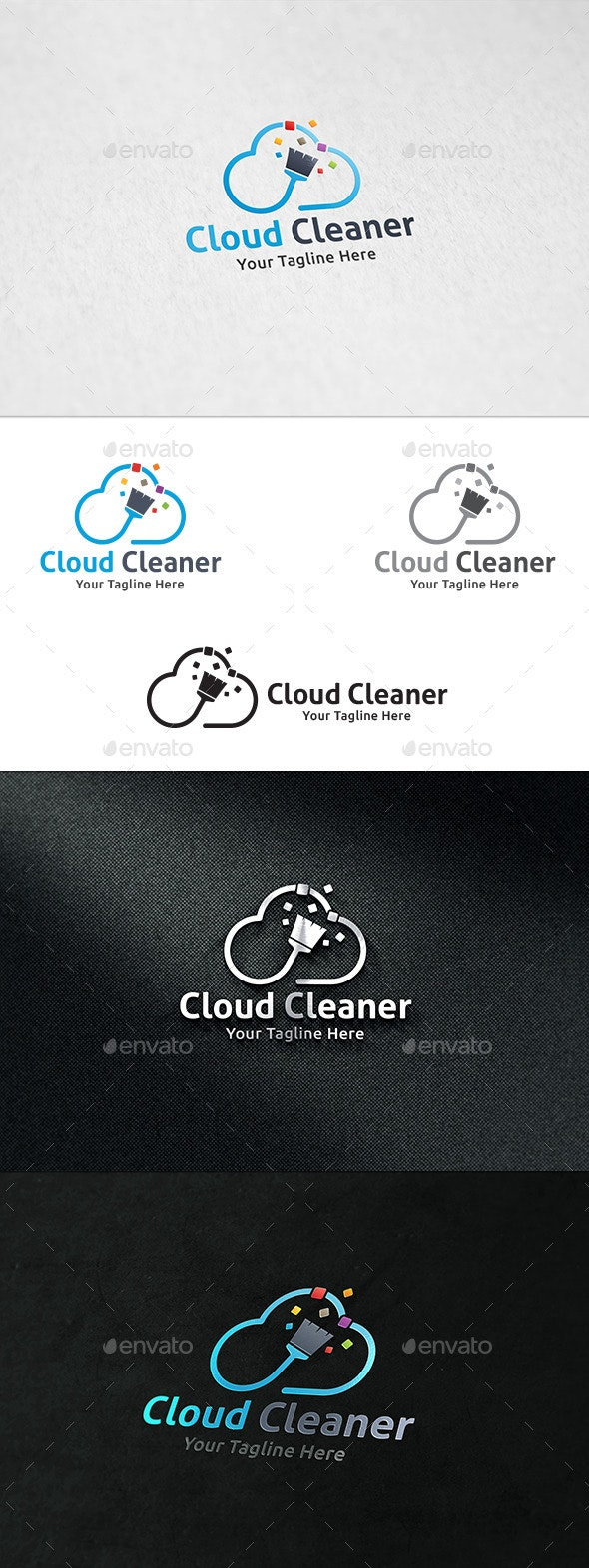 Cloud Cleaner - Logo Template - Symbols Logo Templates