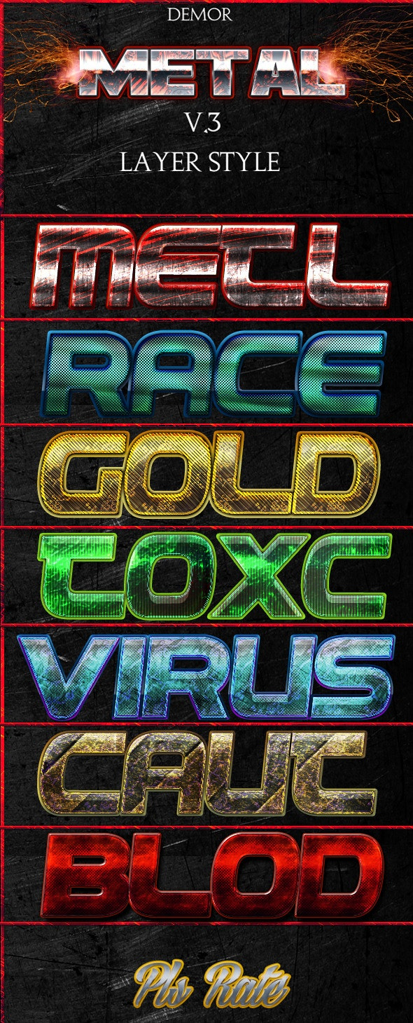 Metal Layer Styles V.3 - Text Effects Styles