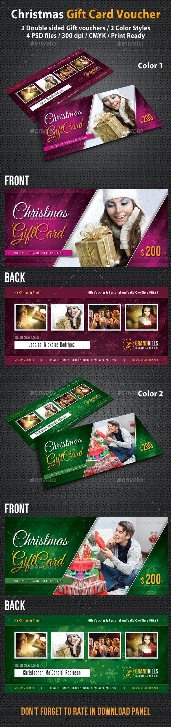 Christmas Holidays Gift Voucher V01 - Cards & Invites Print Templates