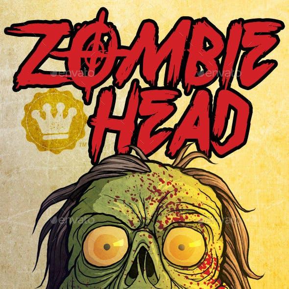 Spooky Zombie Head HD