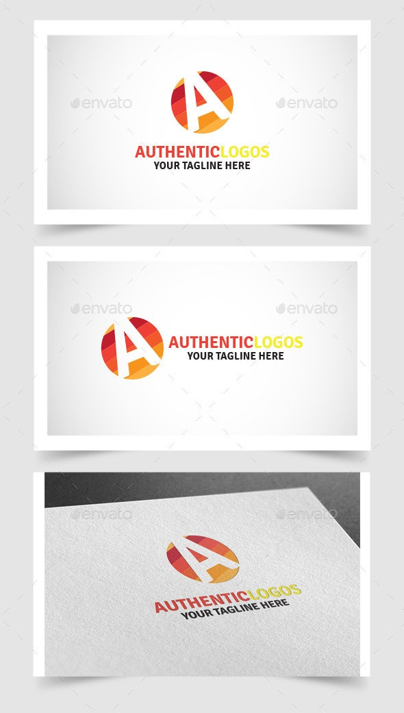 Authentic Logos templates - Vector Abstract