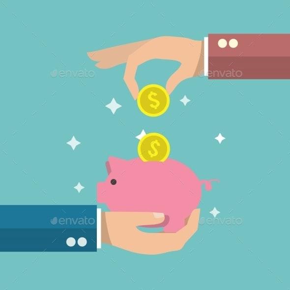 Piggy Bank Poster - Concepts Business
