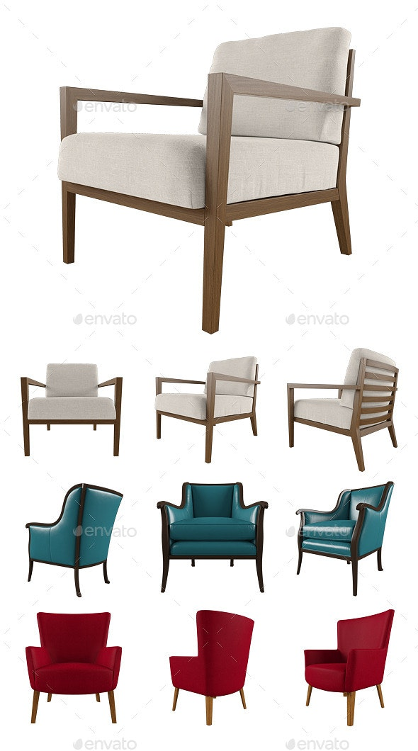 Armchair Set - Objects 3D Renders