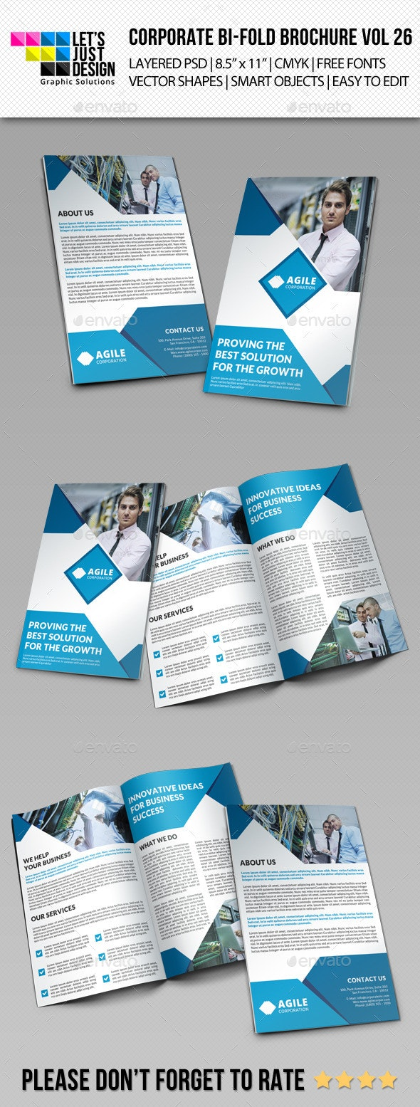 Creative Corporate Bi-Fold Brochure Vol 26 - Corporate Brochures
