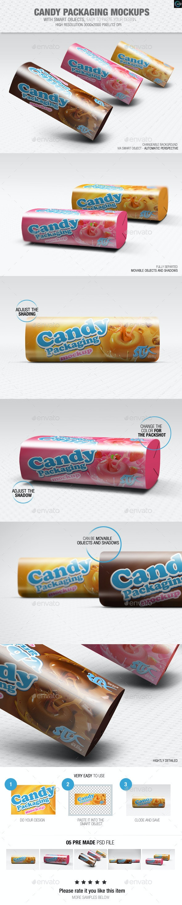 Candy Packaging Mockups - Packaging Product Mock-Ups