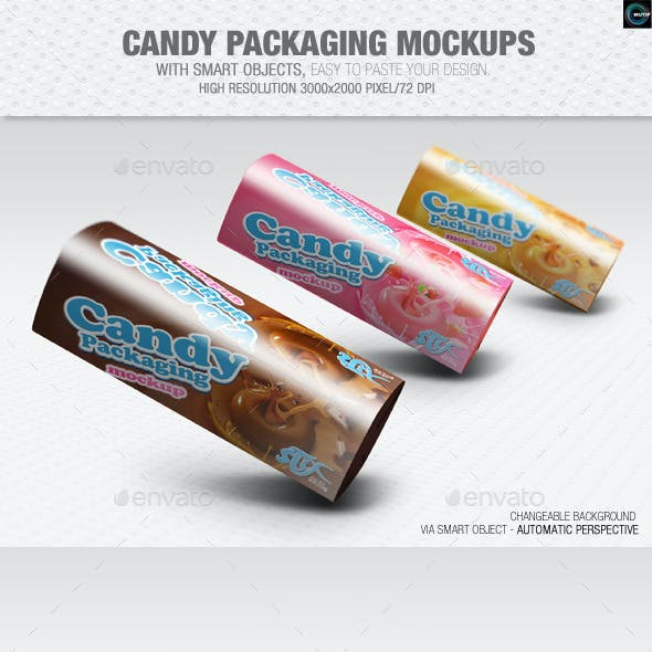 Candy Packaging Mockups
