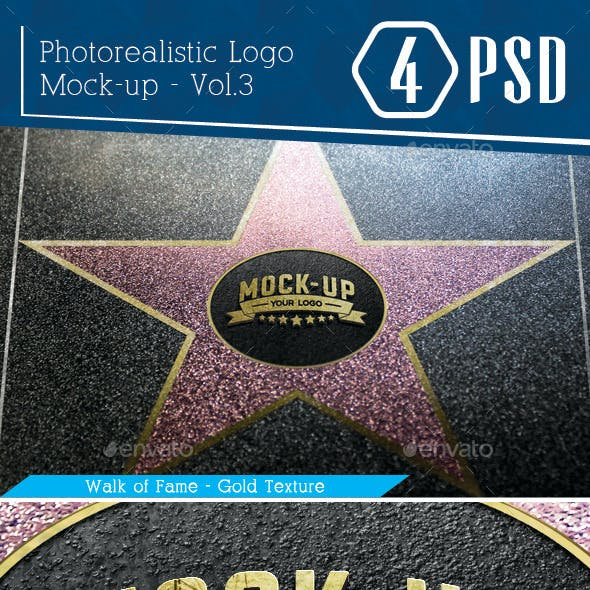 Photorealistic Logo Mock-Up Vol.3