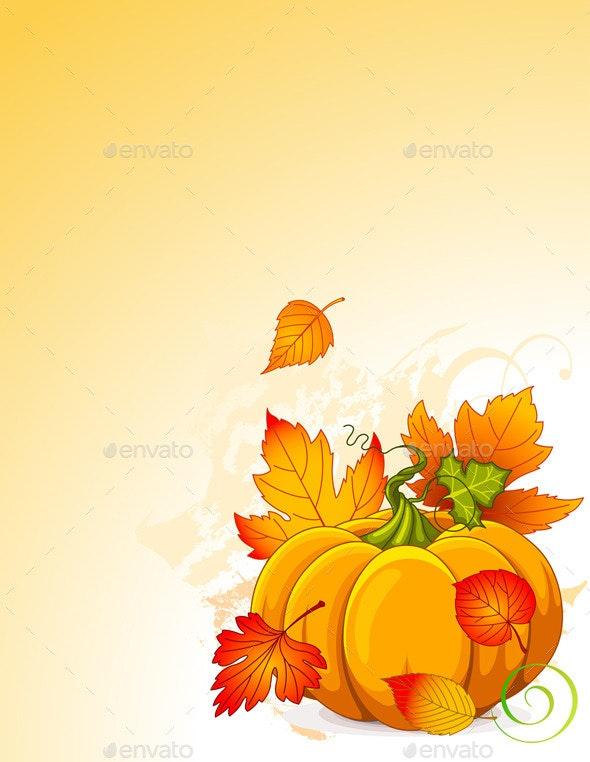 Autumn Pumpkin - Flowers & Plants Nature