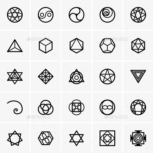 Sacred Geometry Icons - Patterns Decorative