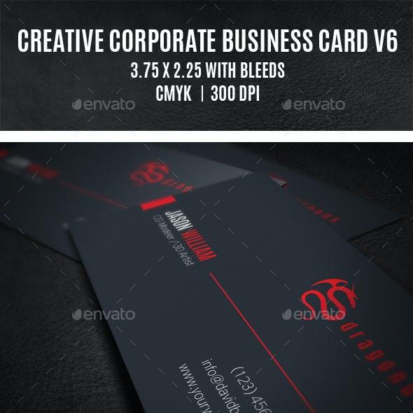 Creative Corporate Business Card V6