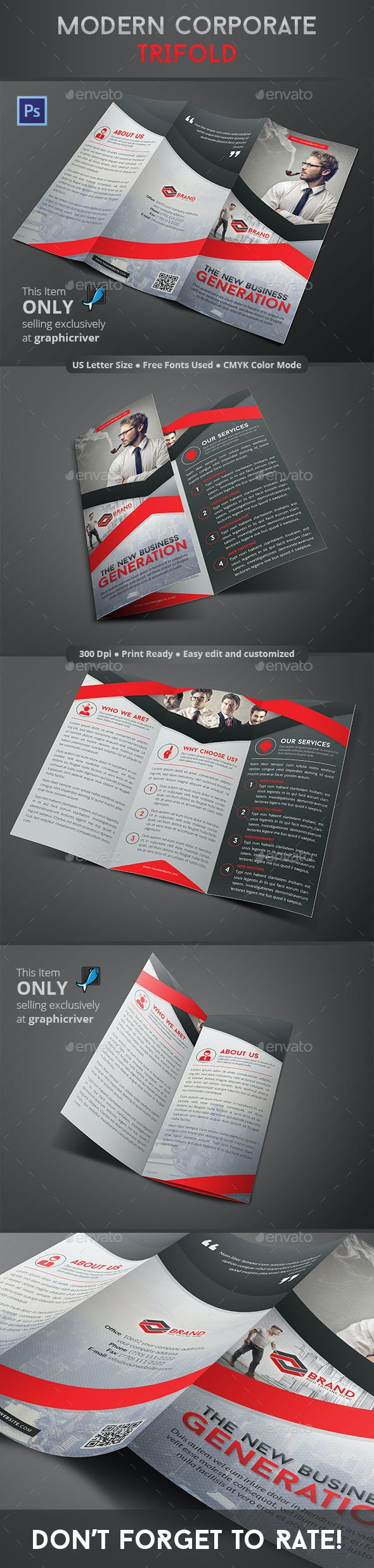 Modern Corporate Trifold - Corporate Brochures
