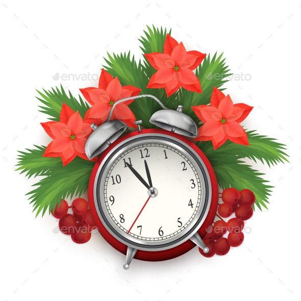 Christmas Time Composition with Alarm Clock - Christmas Seasons/Holidays